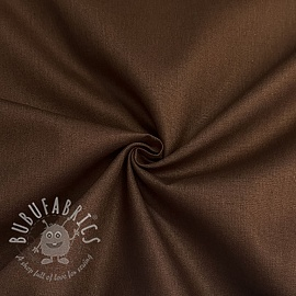 Cotton poplin GOTS brown