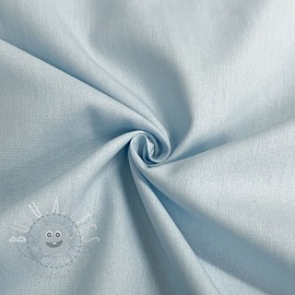 Cotton poplin GOTS light blue