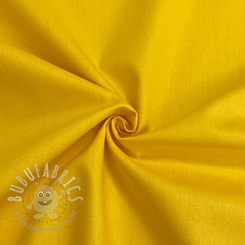 Cotton poplin GOTS yellow