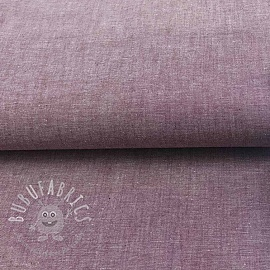 Cotton poplin Yarn dyed aubergine