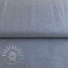Cotton poplin Yarn dyed blue