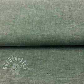 Cotton poplin Yarn dyed dark green