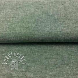 Cotton poplin Yarn dyed dark green 2ND CLASS