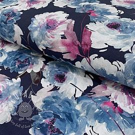 Cotton voile Delia azul