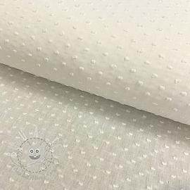 Cotton voile Dotty off white