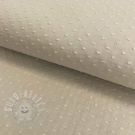Cotton voile Dotty taupe