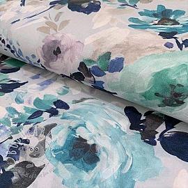 Cotton voile Floris griss