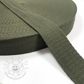 Cotton webbing 4 cm army