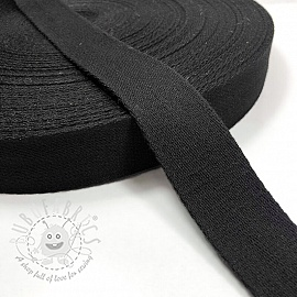 Cotton webbing 4 cm black