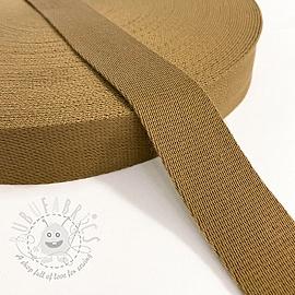 Cotton webbing 4 cm brown