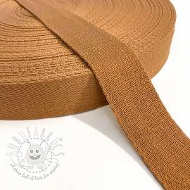Cotton webbing 4 cm cognac