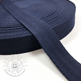 Cotton webbing 4 cm dark blue