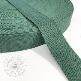 Cotton webbing 4 cm dark old green