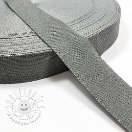 Cotton webbing 4 cm light grey