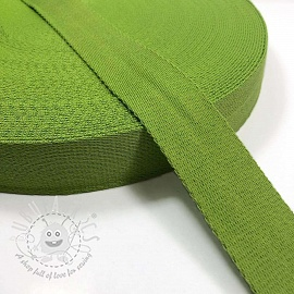 Cotton webbing 4 cm lime