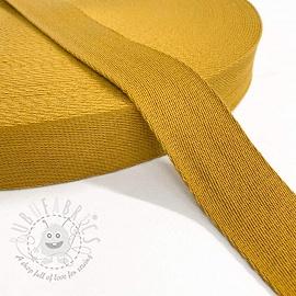 Cotton webbing 4 cm ochre