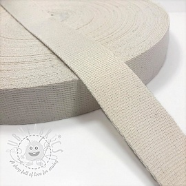 Cotton webbing 4 cm off white