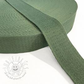 Cotton webbing 4 cm old green