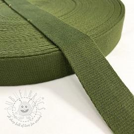 Cotton webbing 4 cm olive green
