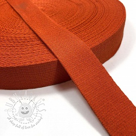 Cotton webbing 4 cm orange
