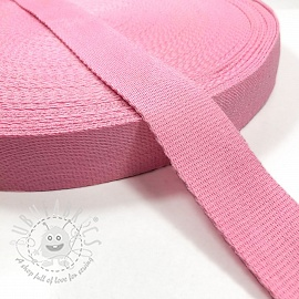 Cotton webbing 4 cm pink