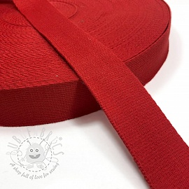 Cotton webbing 4 cm red