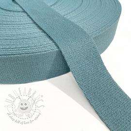 Cotton webbing 4 cm steel blue