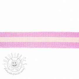 Cotton webbing 4 cm Stripe light pink