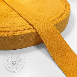 Cotton webbing 4 cm yellow