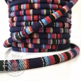 Cotton cord 5 mm Aztec dark blue