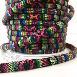 Cotton cord 5 mm Aztec pattern