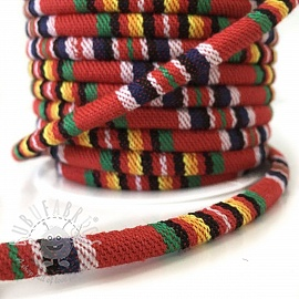 Cotton cord 5 mm Aztec red