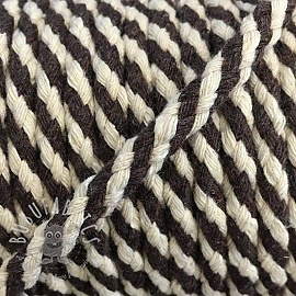 Cotton cord 5 mm brown