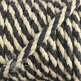Cotton cord 5 mm grey