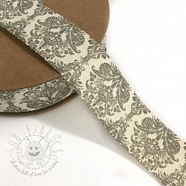 Cotton ribbons Ornament grey