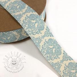 Cotton ribbons Ornament light blue