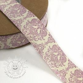 Cotton ribbons Ornament purple