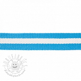 Cotton webbing  4 cm Stripe aqua