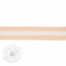Cotton webbing 4 cm Stripe beige