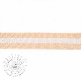 Cotton webbing  4 cm Stripe beige