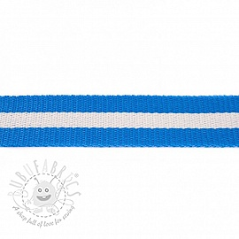 Cotton webbing 4 cm Stripe blue