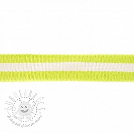 Cotton webbing  4 cm Stripe lime