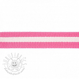 Cotton webbing  4 cm Stripe pink