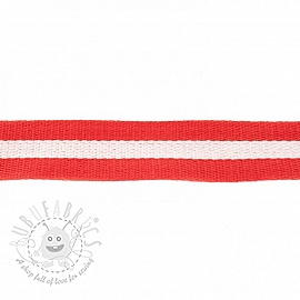 Cotton webbing  4 cm Stripe red