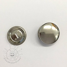 Cover buttons metal 15 mm