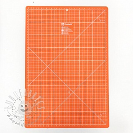 Cutting mat cm/inch divisions PRYM 30 x 45 cm orange