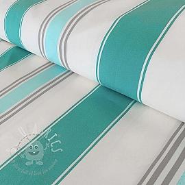 Deck Chair fabric ATHENES AQUA 300