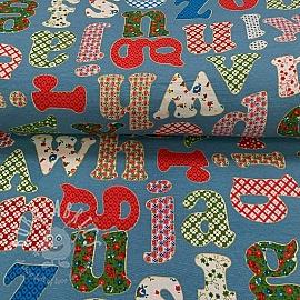 Decoration fabric Alphabet