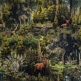 Decoration fabric Ancient forest digital print
