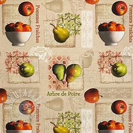 Decoration fabric Apples and pears digital print